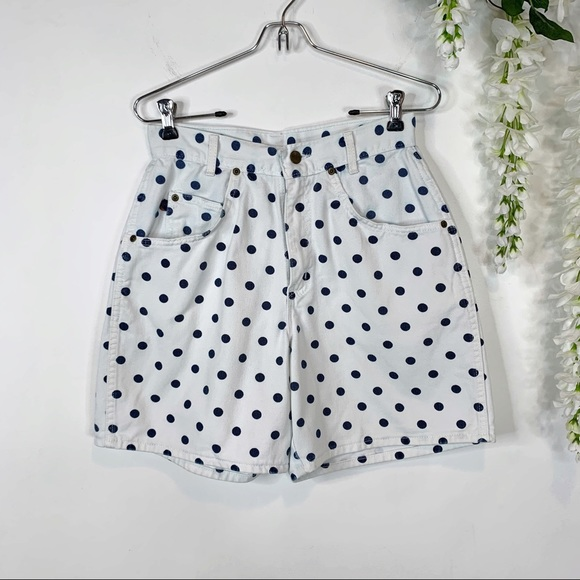 chic Pants - CHIC vintage high waist dotted mom shorts 1104